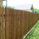 Забор на змельном участке